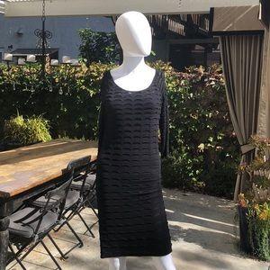 Catherine Malandrino Black Stretch Dress Sz M